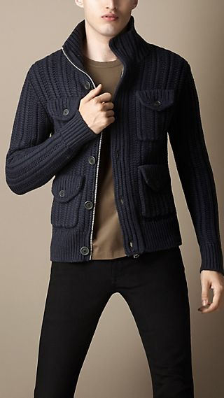 Knitted Field Jacket