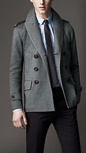 Double Cotton Jersey Pea Coat