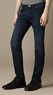 Steadman Hand Dyed Indigo Slim Fit Jeans