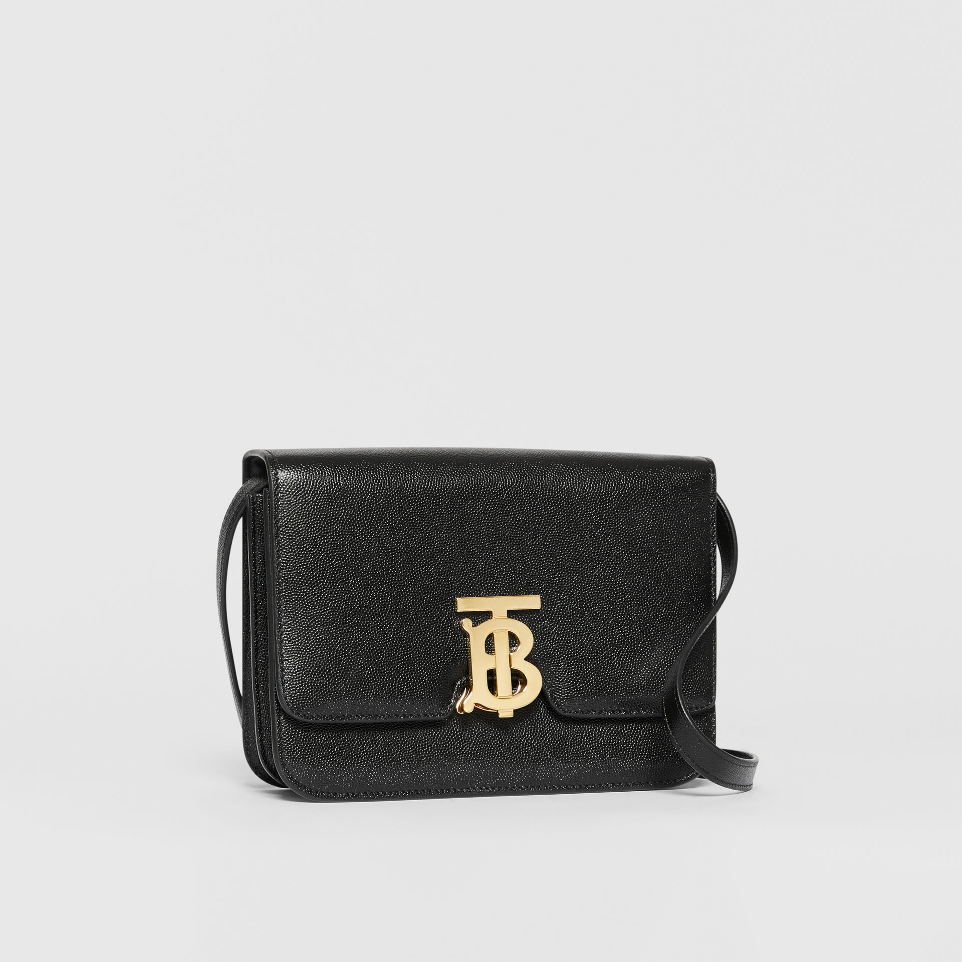 Small Grainy Leather TB Bag in Black - Women | Burberry - gallery image 6