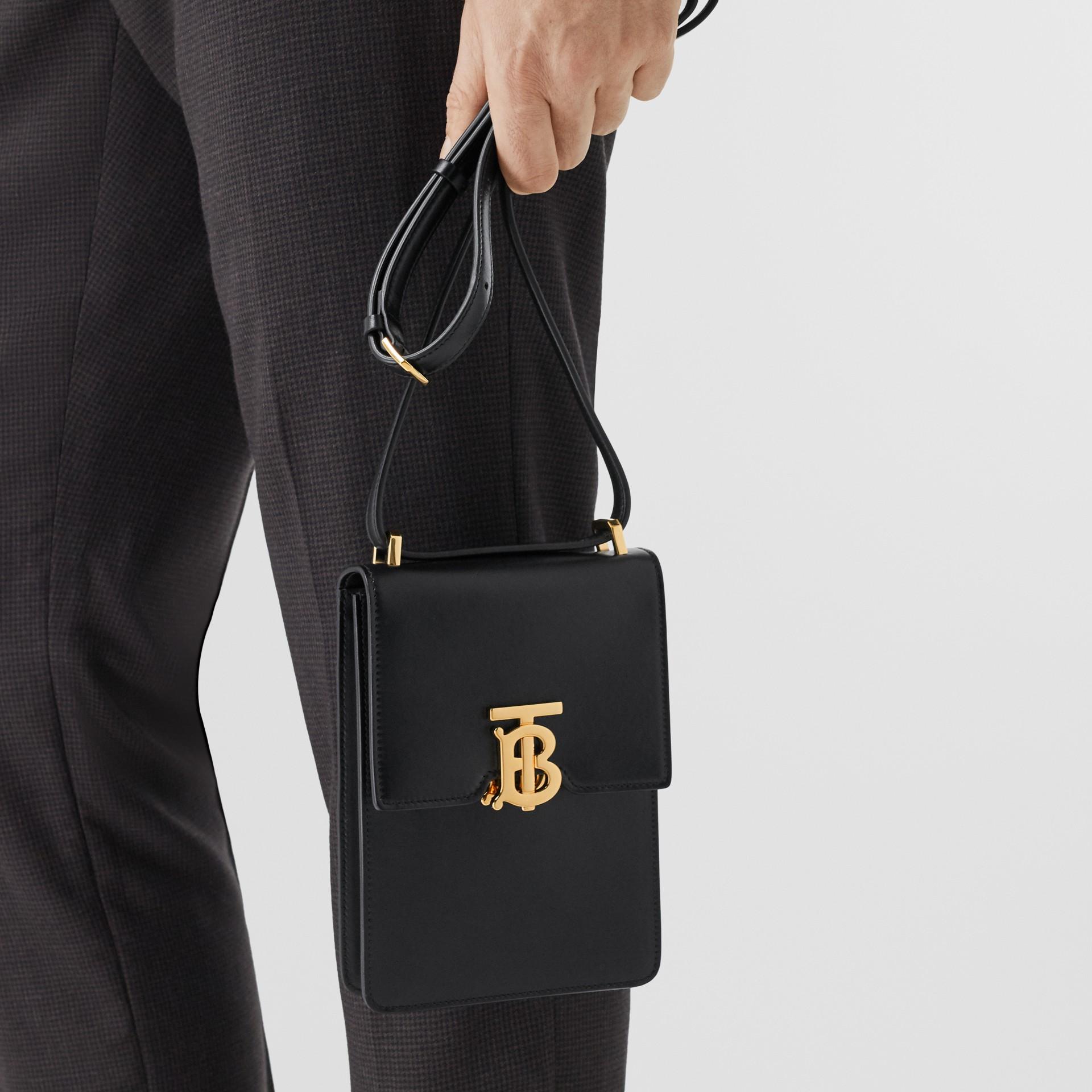 Leather Robin Bag in Black - Women | Burberry Australia - gallery image 3