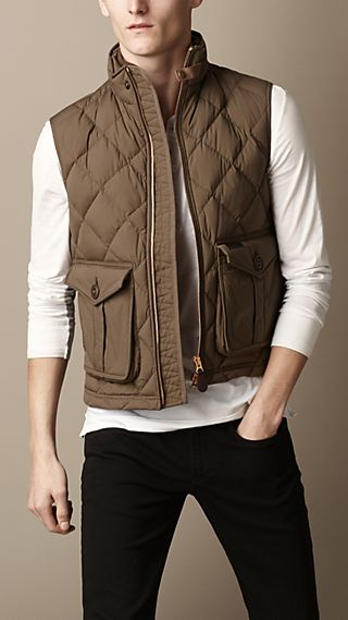 Down-Filled Diamond Quilt Gilet
