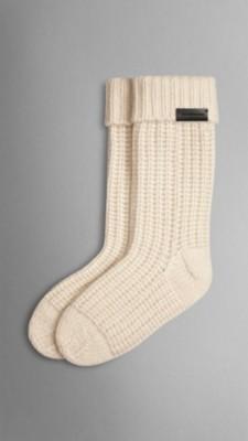 Knitting Pattern For Cashmere Socks : Knitted Cashmere Socks Burberry
