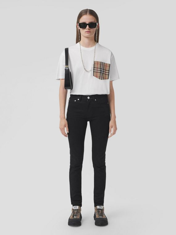 Skinny Fit Stretch Japanese Denim Jeans in Black