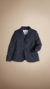 Check Undercollar Wool Jacket