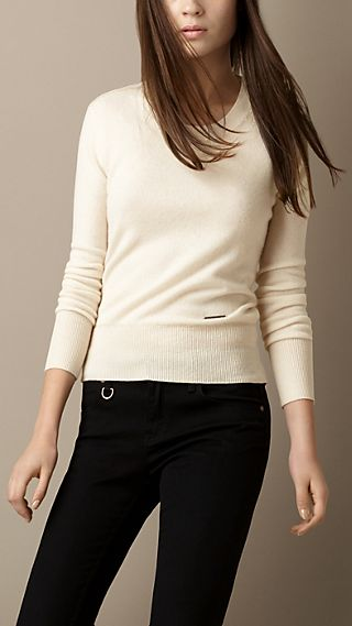 Stitch Detail Cashmere Sweater