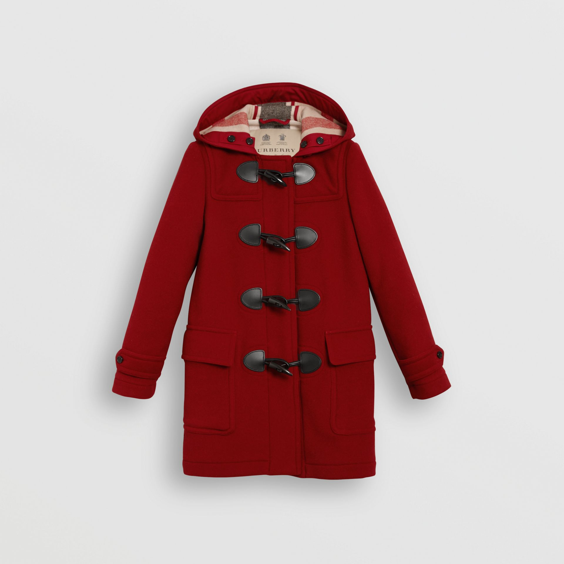 The Mersey Duffle Coat in Parade Red - Women | Burberry Canada - gallery image 3