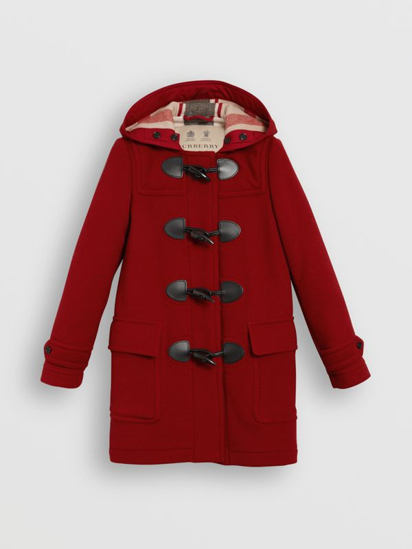 The Mersey Duffle Coat in Parade Red - Women | Burberry Canada - cell image 3