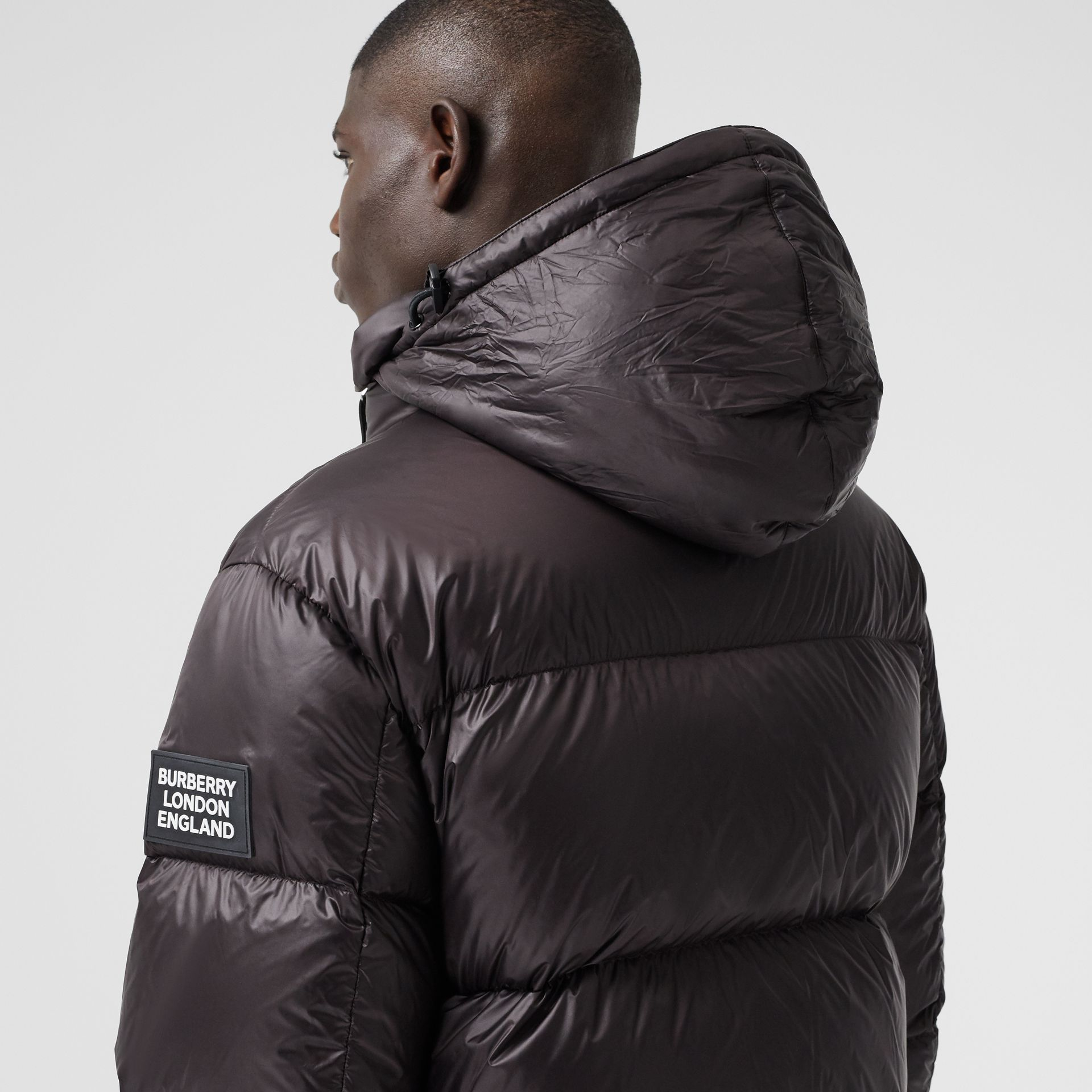 Packaway Hood Zip Detail Puffer Jacket in Deep Brown - Men | Burberry - gallery image 4