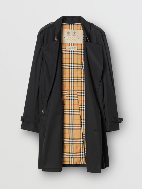 The Mid-length Kensington Heritage Trench Coat in Black - Men | Burberry Canada - cell image 2