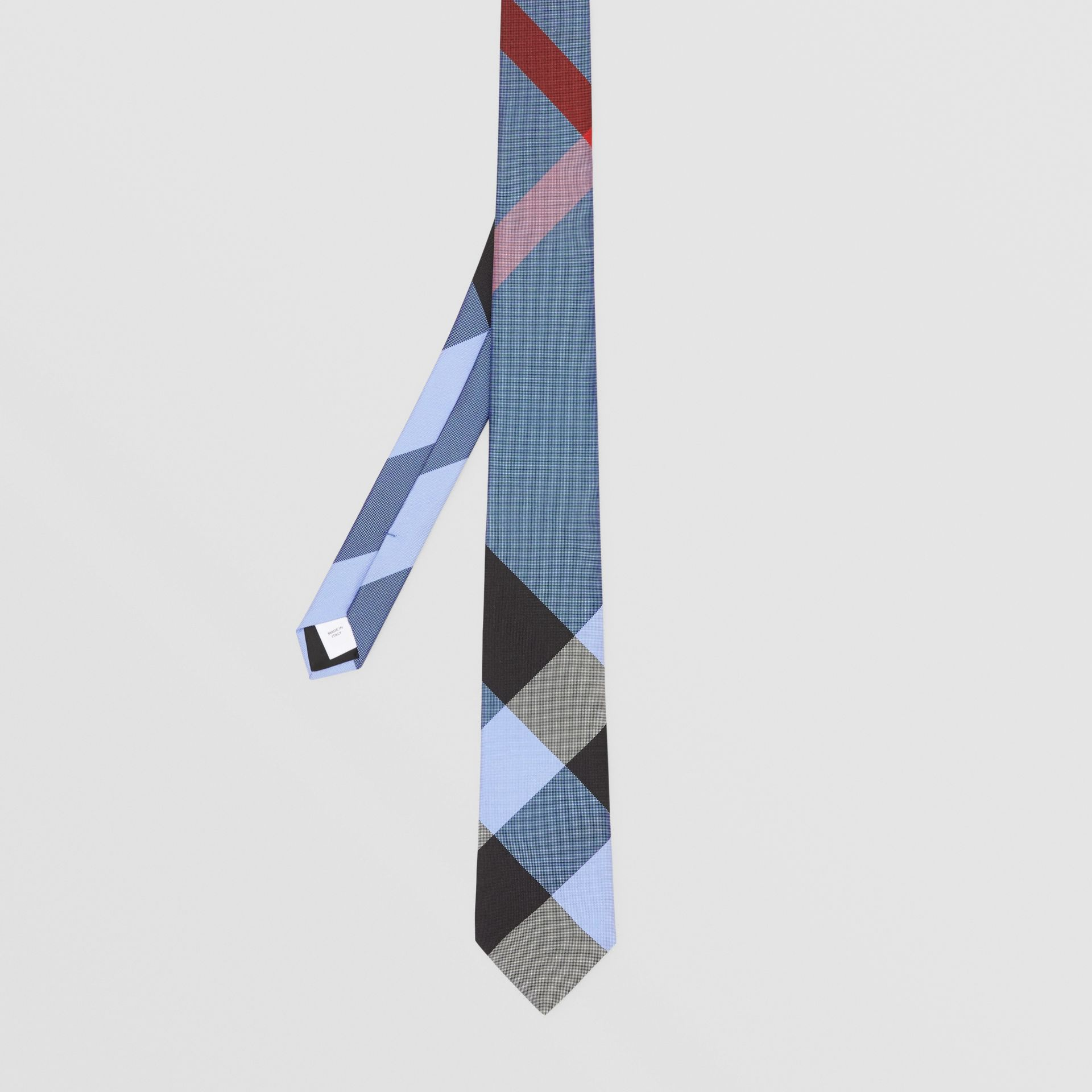 Classic Cut Check Silk Jacquard Tie in Bright Steel Blue | Burberry United Kingdom - gallery image 4
