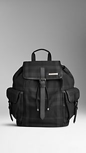 Small Beat Check Backpack