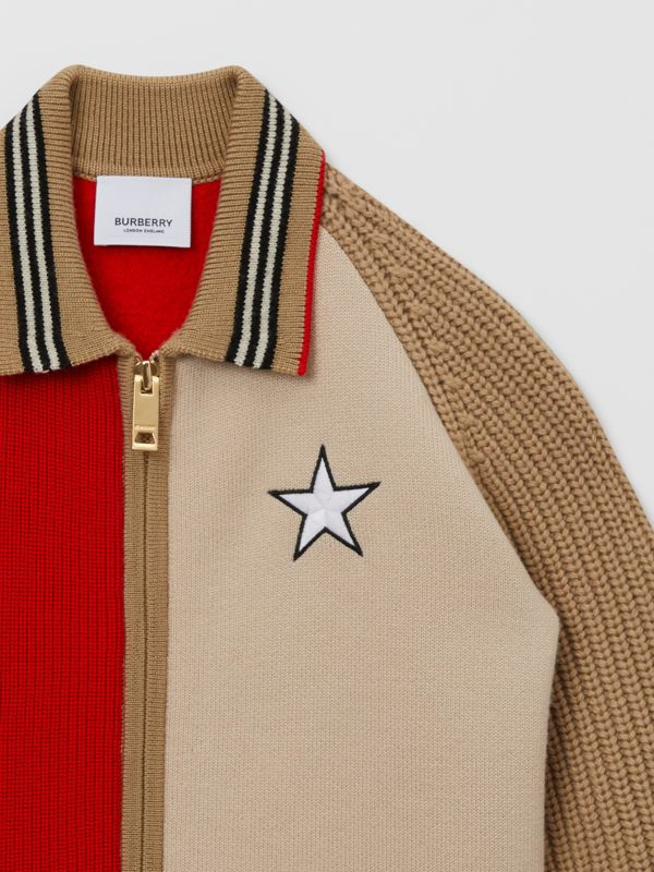 Star Motif Colour Block Wool Jacket | Burberry United Kingdom - cell image 3