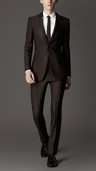 Slim Fit Ottoman Wool Evening Suit