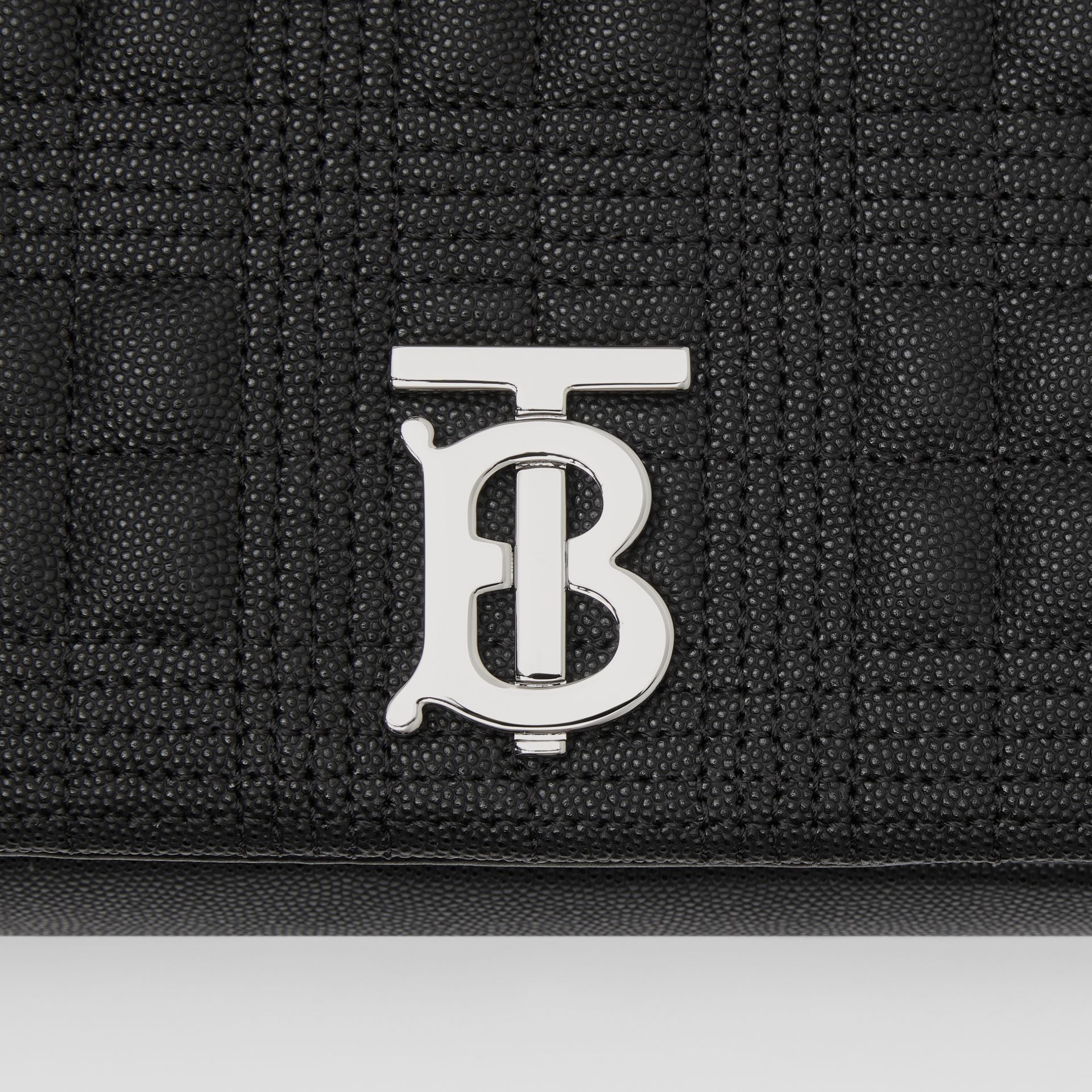 Medium Quilted Grainy Leather Lola Bag in Black/palladium - Women | Burberry United Kingdom - gallery image 1