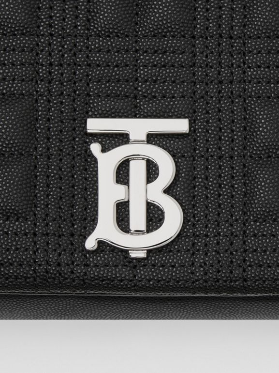 Medium Quilted Grainy Leather Lola Bag in Black/palladium - Women | Burberry United Kingdom - cell image 1