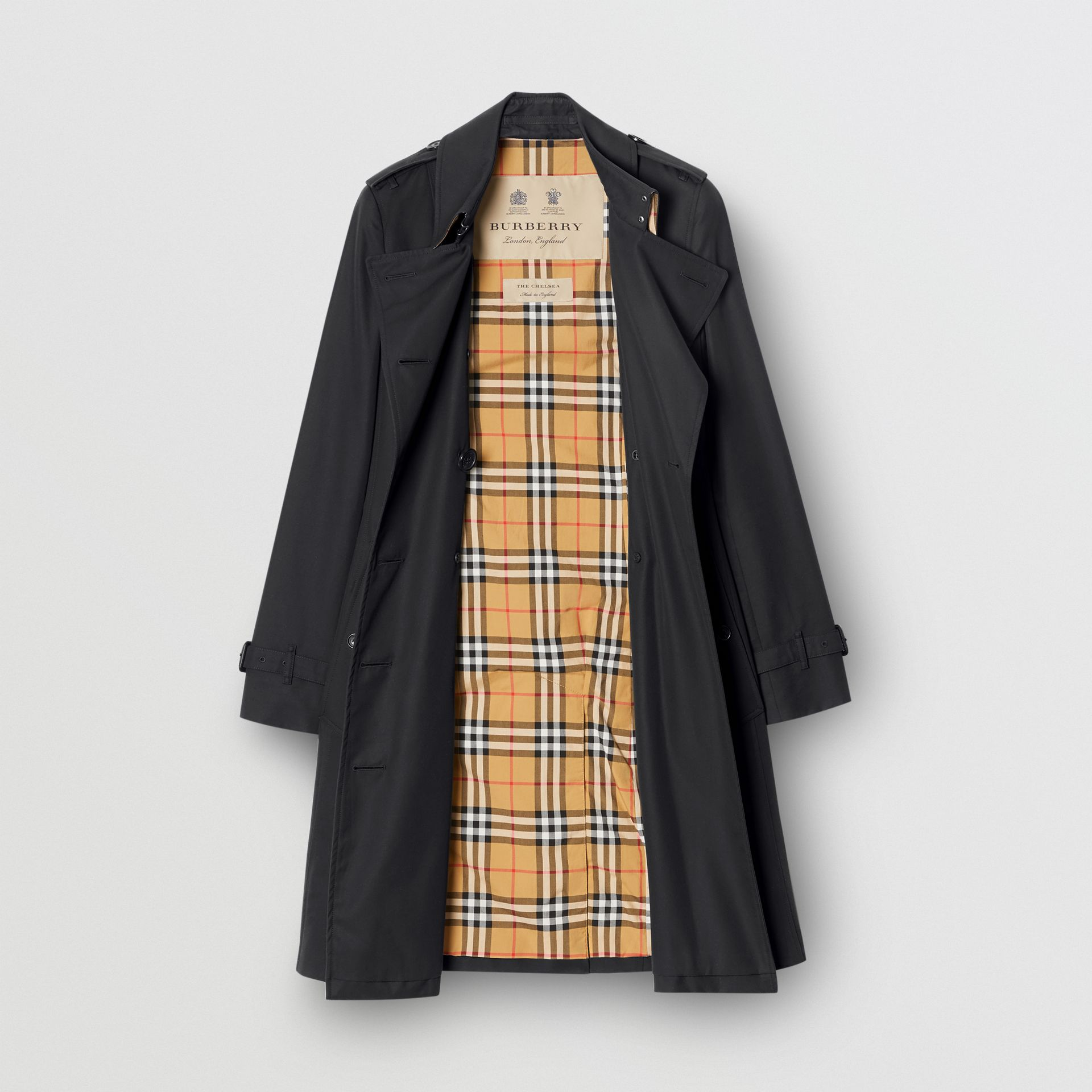 Trench coat Heritage The Chelsea medio (Blu Notte) - Donna | Burberry - immagine della galleria 4