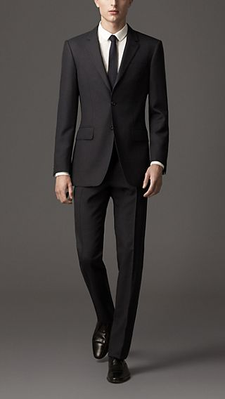 Classic Fit Wool Birdseye Suit