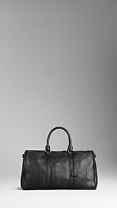 Embossed Check Leather Holdall