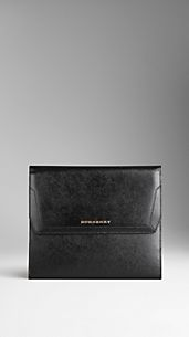 Patent London Leather Porfolio IPad Case
