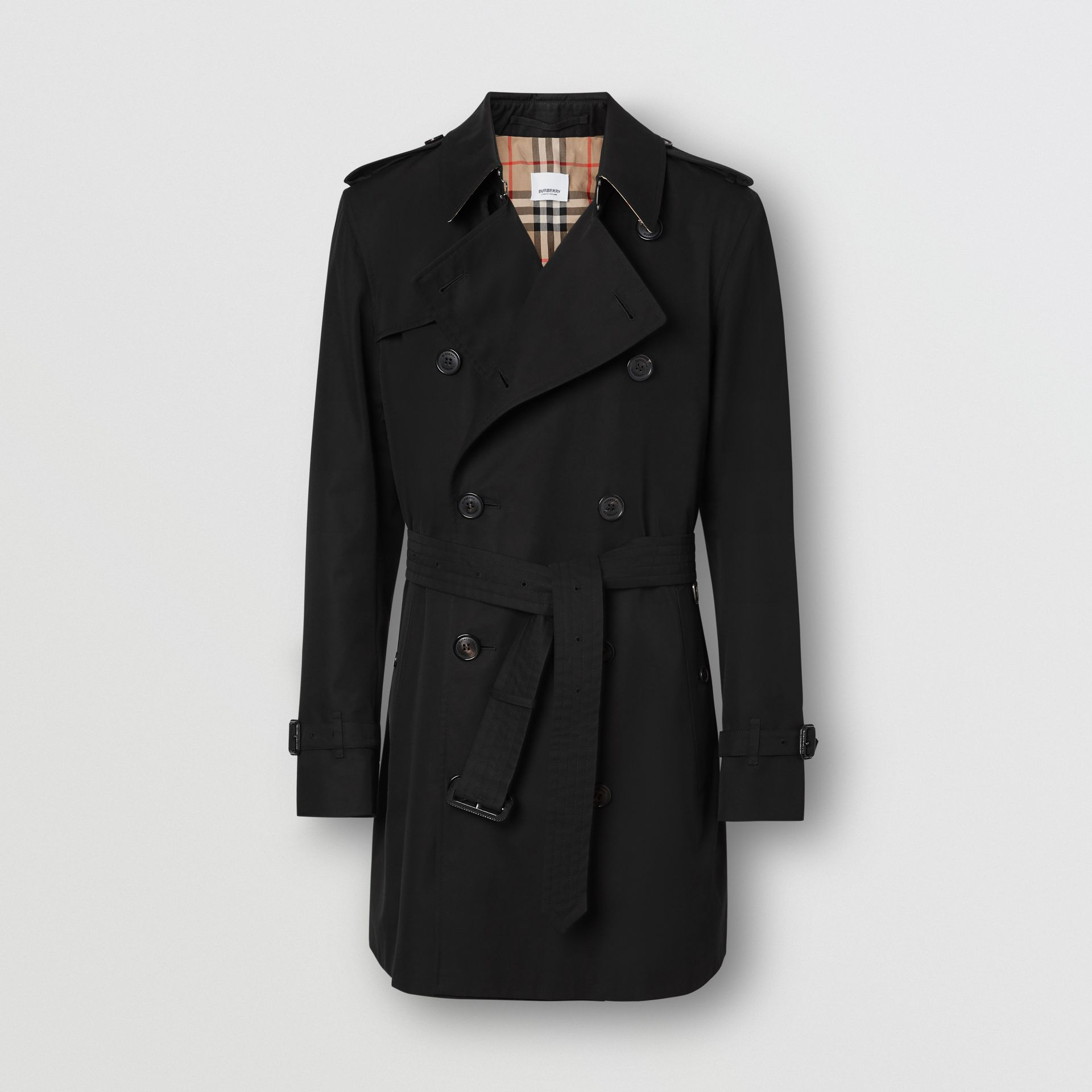 The Short Wimbledon Trench Coat in Black - Men | Burberry - gallery image 3