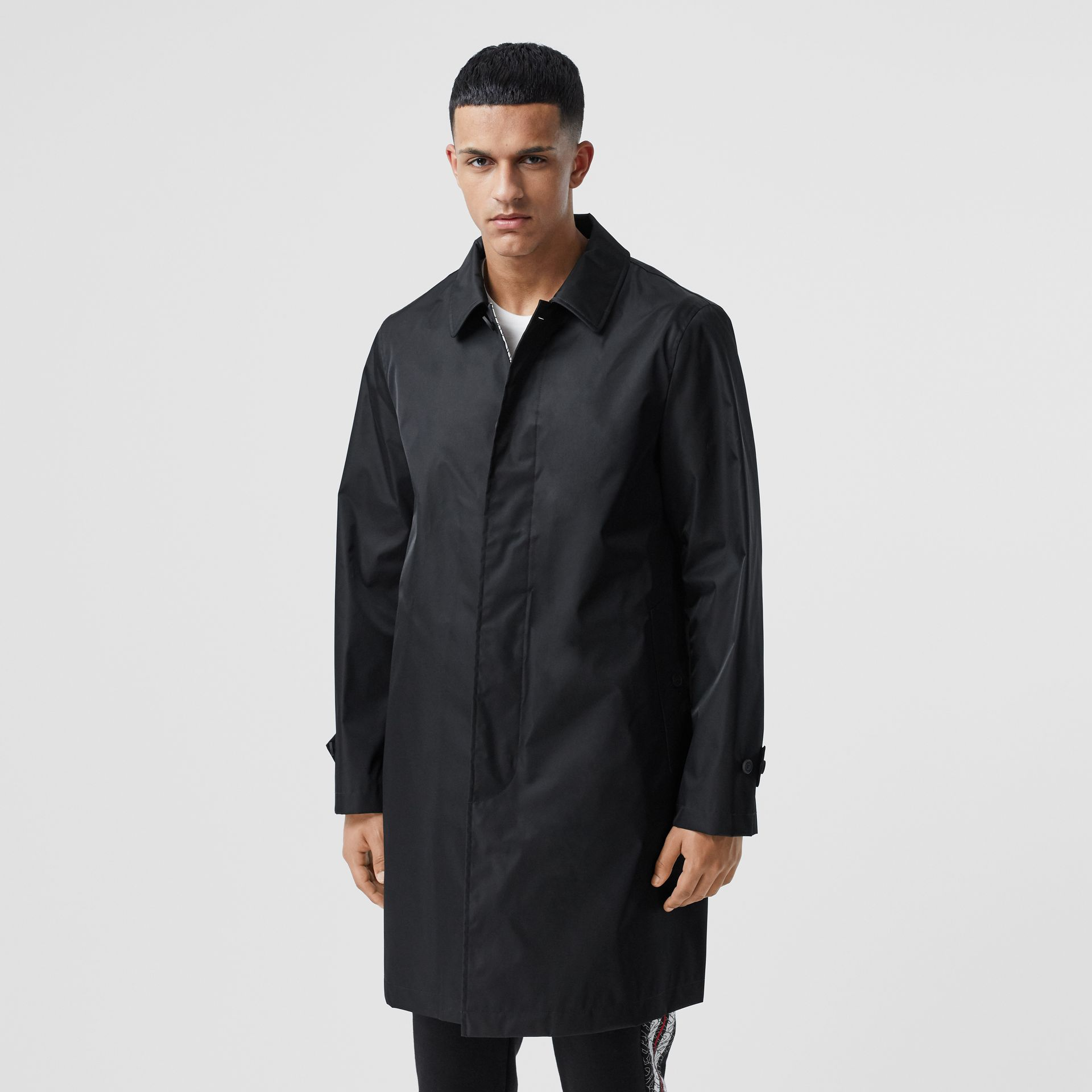 Technical Twill Car Coat in Black - Men | Burberry - gallery image 6
