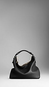 Large Heritage Grain Leather Hobo Bag