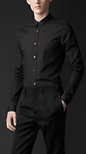 Skinny Fit Cotton Shirt