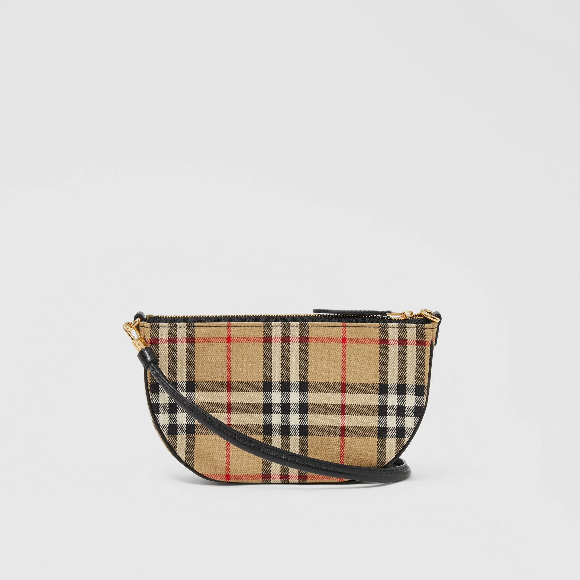 Vintage Check Cotton Olympia Pouch in Archive Beige - Women | Burberry United Kingdom - gallery image 7