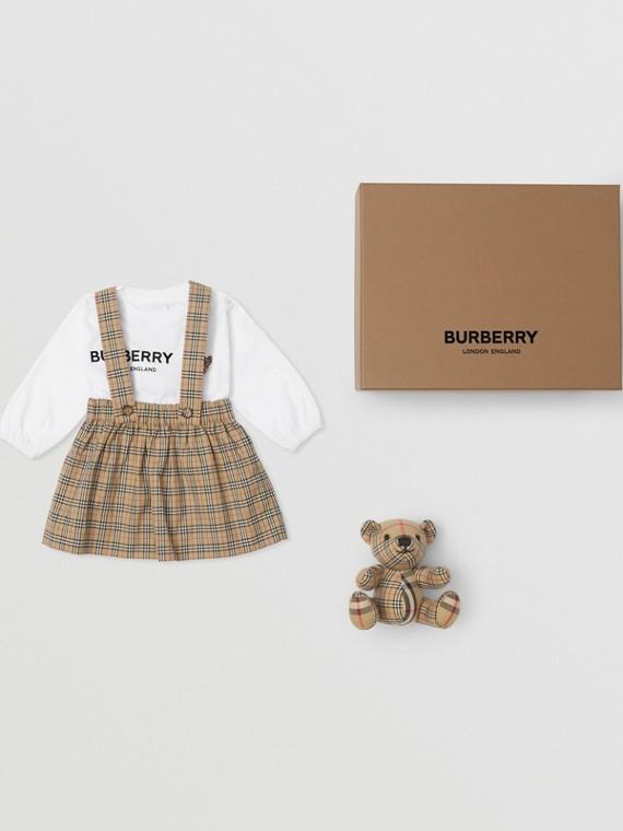 Thomas Bear Cotton Three-piece Baby Gift Set in Archive Beige