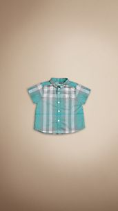 Button-Down Check Cotton Shirt