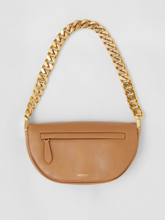 Small Lambskin Olympia Bag in Modern Beige
