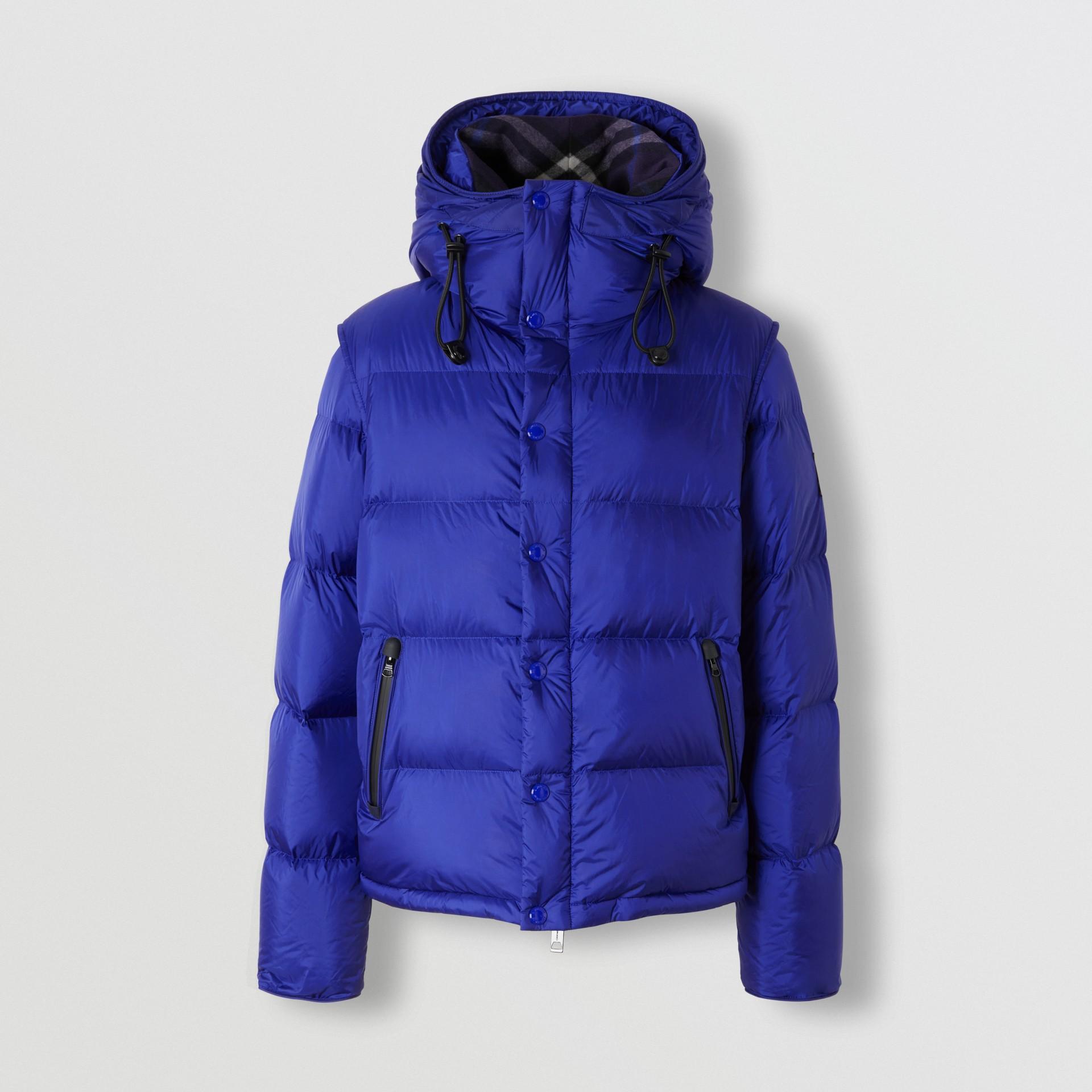 Detachable Sleeve Hooded Puffer Jacket in Dark Cobalt Blue - Men | Burberry - gallery image 3
