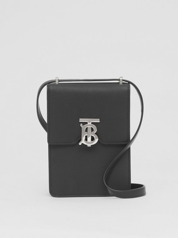 Grainy Leather Robin Bag in Black
