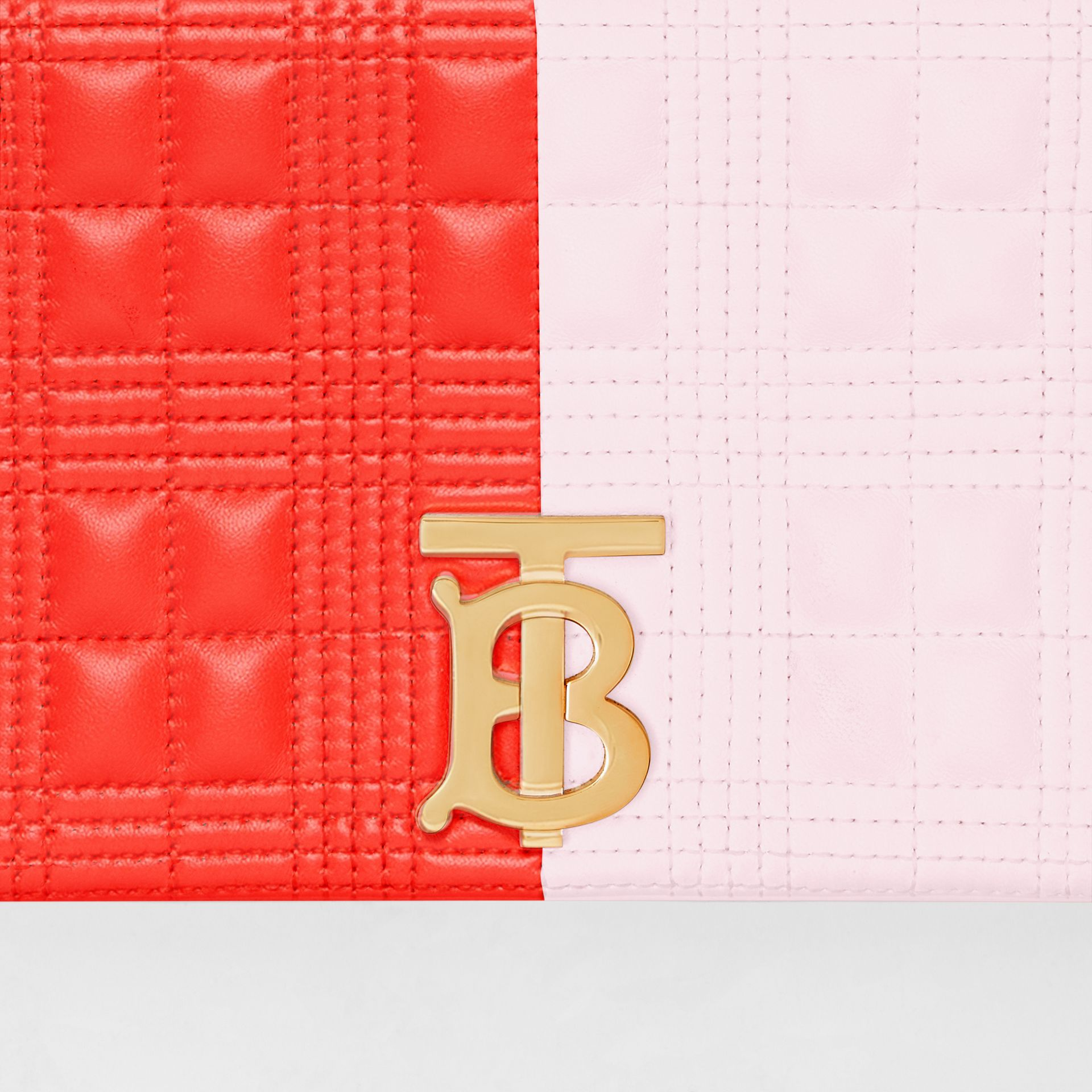 Small Quilted Tri-tone Lambskin Lola Bag in Red/pink/camel - Women | Burberry - gallery image 1