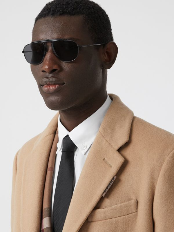 Pilot Sunglasses in Matte Black - Men | Burberry - cell image 2