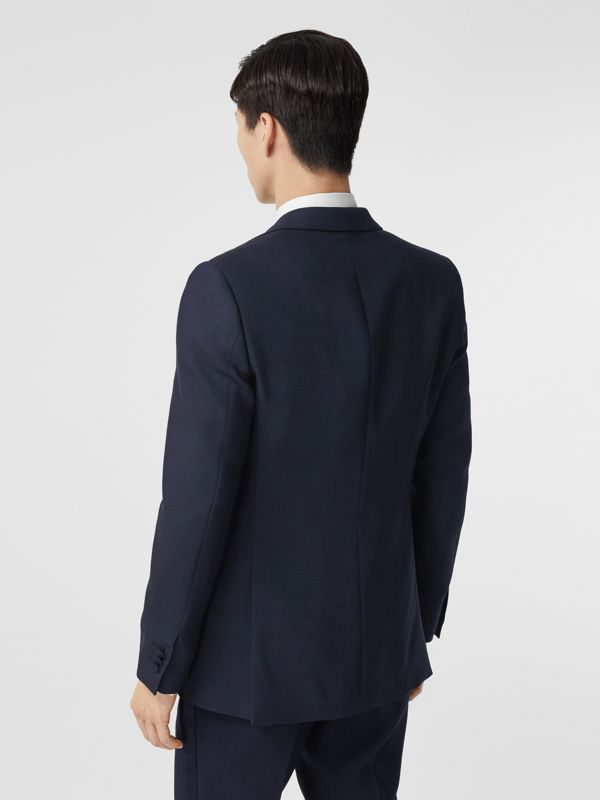 English Fit Wool Silk Blend Tailored Jacket in Navy Black - Men | Burberry Hong Kong S.A.R. - cell image 2