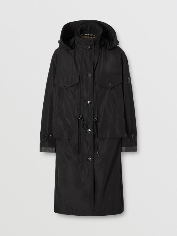 Parka en taffetas à mémoire de forme avec capuche amovible (Noir) - Femme | Burberry - cell image 3