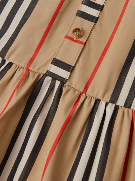 Icon Stripe Gathered Cotton Poplin Dress - Children | Burberry United Kingdom - cell image 1