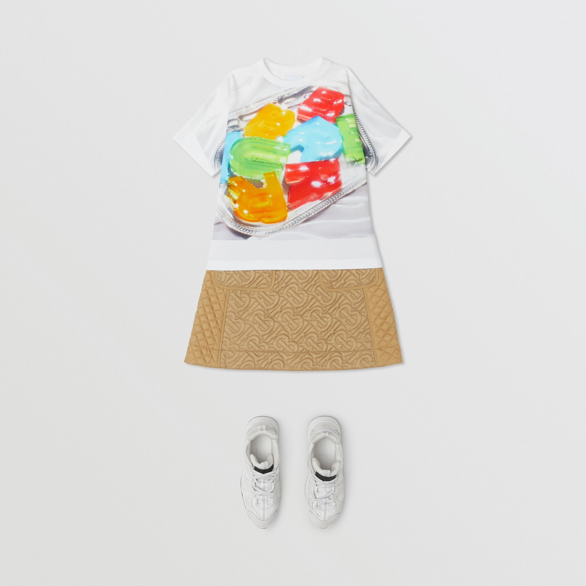 Confectionery Print Cotton T-shirt in Multicolour | Burberry - gallery image 2