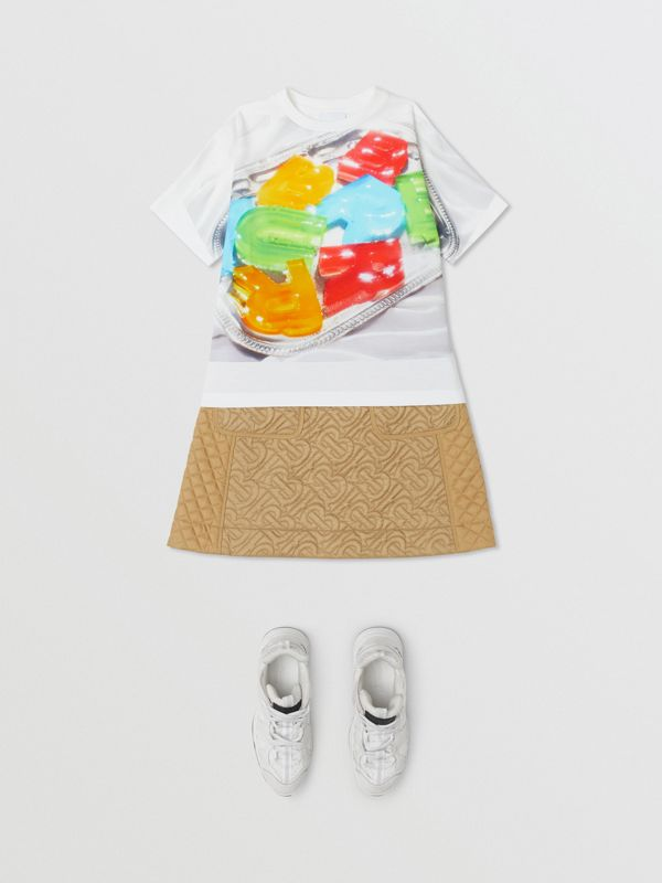 Confectionery Print Cotton T-shirt in Multicolour | Burberry - cell image 2