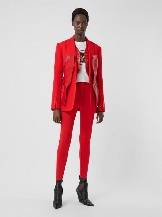 Stretch Jersey Jodhpurs in Bright Red