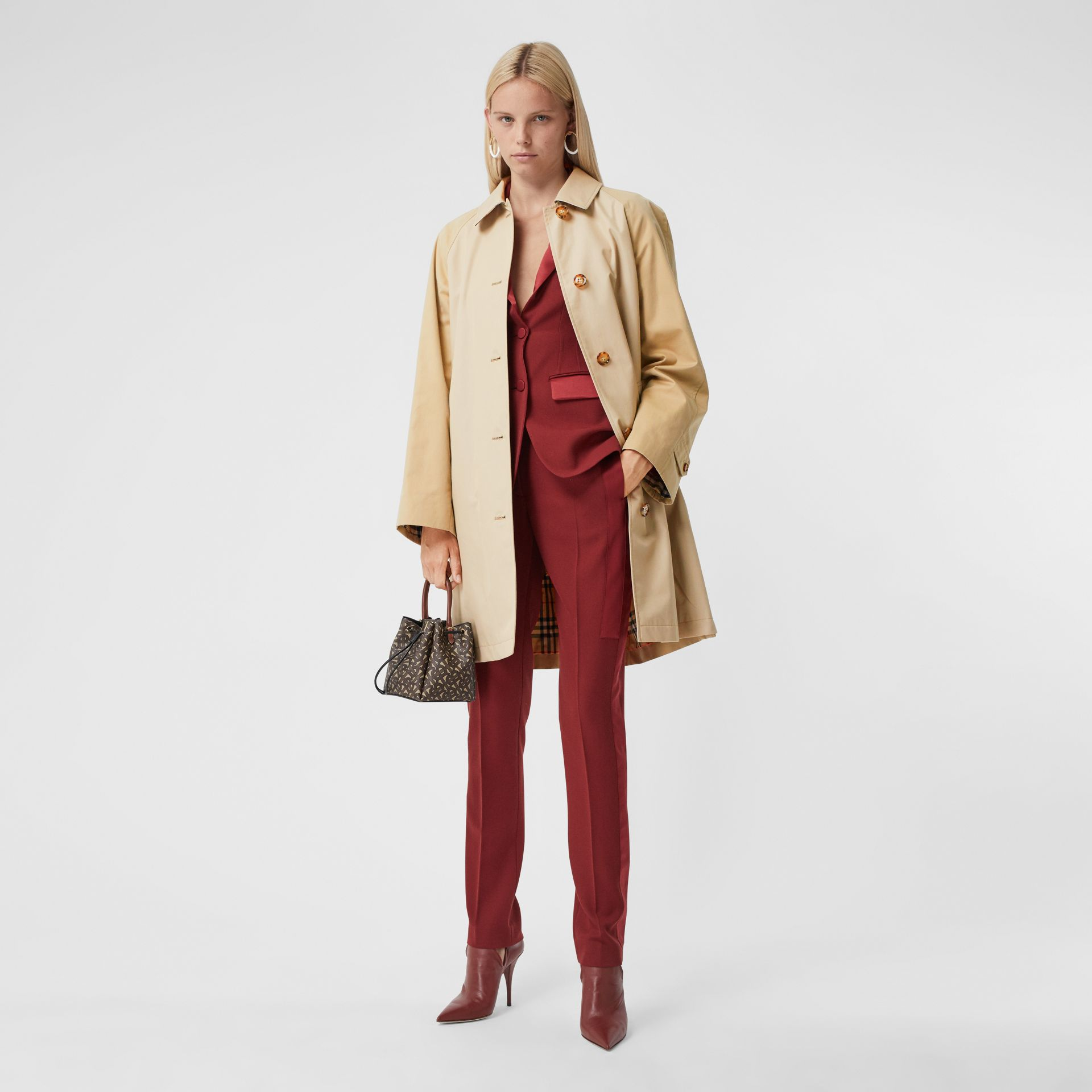 Two-tone Reconstructed Car Coat - Women | Burberry - gallery image 10