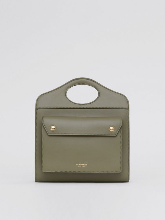 Borsa Pocket mini in pelle (Verde Felce Scuro)