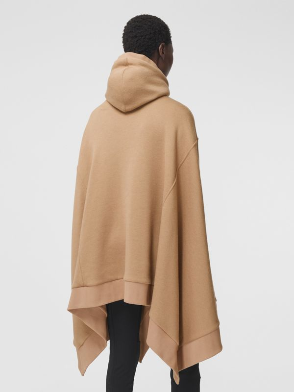 Cut-out Sleeve Jersey Hooded Cape in Camel - Women | Burberry Canada - cell image 2