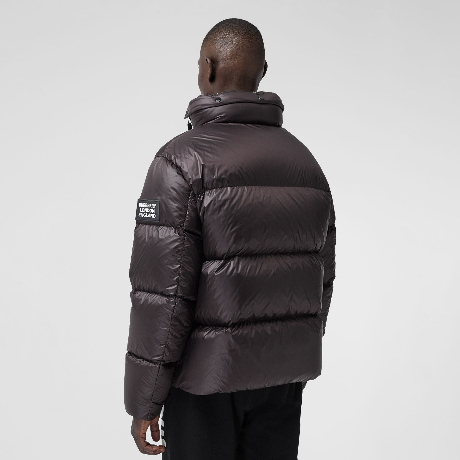 Packaway Hood Zip Detail Puffer Jacket in Deep Brown - Men | Burberry - gallery image 2