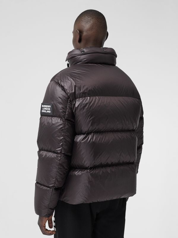 Packaway Hood Zip Detail Puffer Jacket in Deep Brown - Men | Burberry Canada - cell image 2