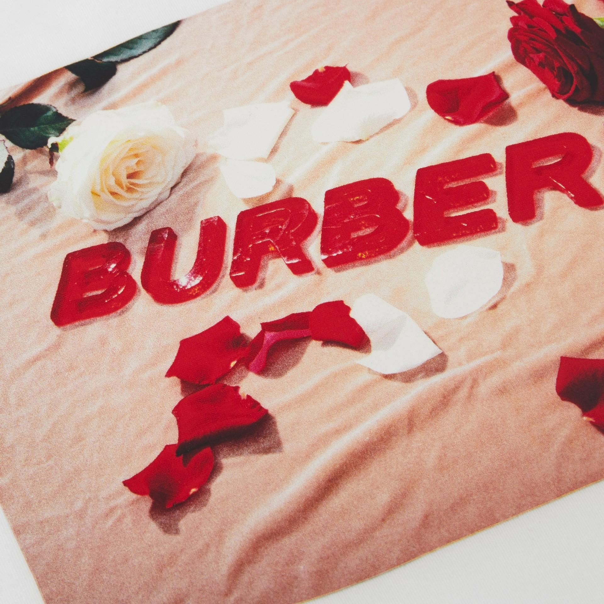 Camiseta de algodão com estampa de confeito (Branco) | Burberry - galeria de imagens 1