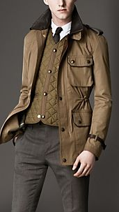 Cotton Gabardine Warmer Jacket