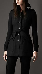 Stretch Jersey Trench Coat